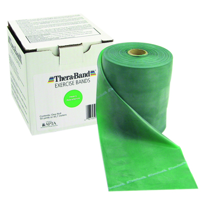 Thera-Band® exercise band - 100 yards - Green - Heavy