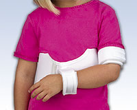 Elastic Shoulder Immobilizer, INFANT 0-24 mos 16 - 22""