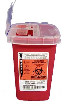 Red Sharps Container: 1 Quart