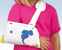 "Universal Arm Sling, INFANT 0-24m 3 1/2-5 1/2"" Pediatric Print"
