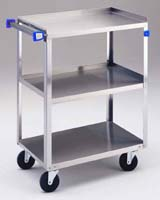 Stainless Steel Standard Duty Utility Cart, Traditional