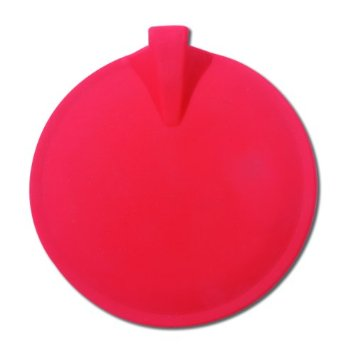 "3"" Round Active Insulated Electrodes, Red, For 0.080 pin"