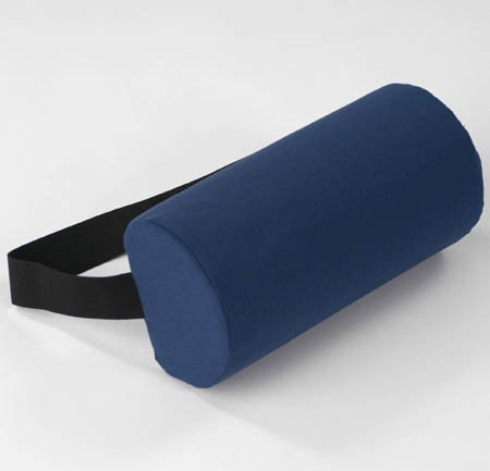Half Round D-Roll Lumbar Roll w/ Removable Navy Cotton Cover