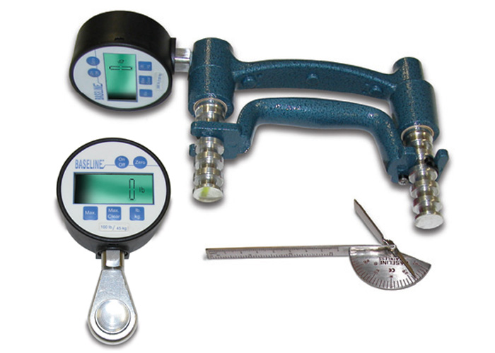 3-Piece Hand Evaluation Set, Digital Gauge Dynamoter 300 lbs.