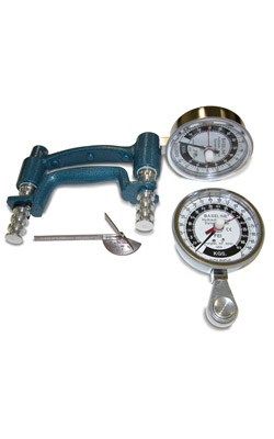 3-Piece Hand Evaluation Set, Dial Gauge Dynamoter - 300 lbs.