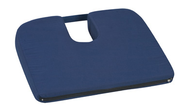 Sloping Coccyx Cushion, Navy