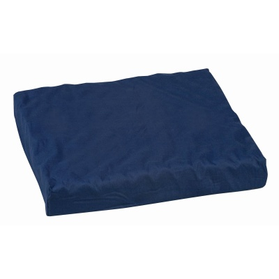 "Polyfoam Wheelchair Cushion, Convoluted, Navy, 16"" x 18"" x 3"""