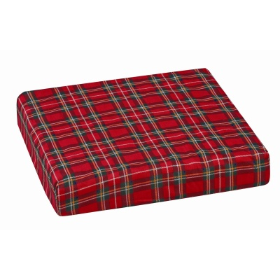 "Polyfoam Wheelchair Cushion, Convoluted, Plaid, 16"" x 18"" x 3"""