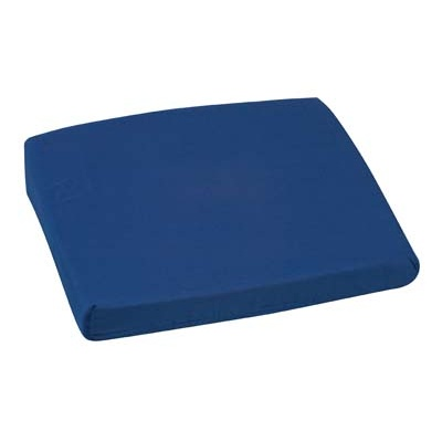 "Sloping Back Seat Cushion, Poly/Cotton, Navy, 16"" x 18"" x 2-4"""