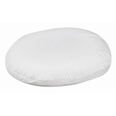 "Contoured Foam Ring Cushion, White, 18"" x 15"" x 3"""