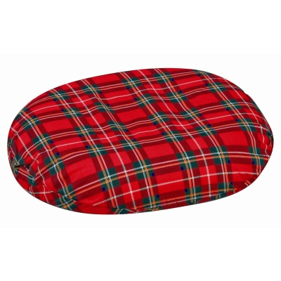 "Contoured Foam Ring Cushion, Plaid, 14"" x 12-1/2"" x 3"""