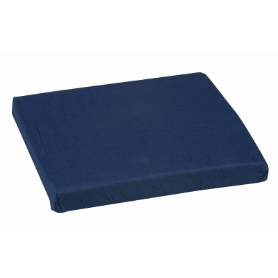 "Polyfoam Wheelchair Cushion, Standard, Navy, 16"" x 18"" x 2"""