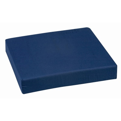 "Polyfoam Wheelchair Cushion, Standard, Navy, 16"" x 18"" x 3"""