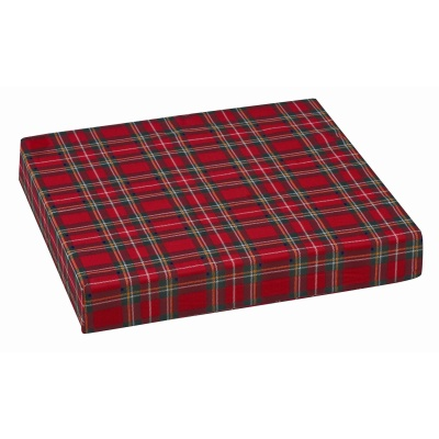 "Polyfoam Wheelchair Cushion, Standard, Plaid, 16"" x 18"" x 3"""