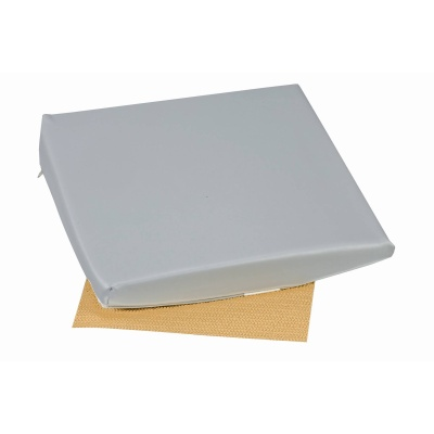 "Slant Seat Cushion, Gray, 16"" x 16"" x 2"" - 4"""