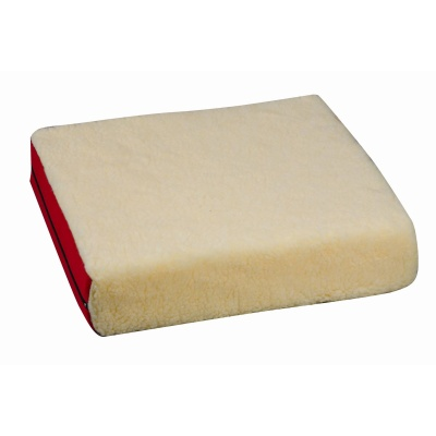 "Polyfoam Wheelchair Cushion, Burgundy/Fleece, 16"" x 18 x 4"""