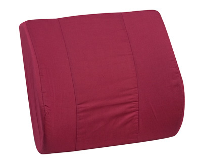 Standard Lumbar Cushion with Strap, Burgundy