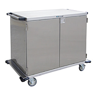 Item # 6935, Stainless Steel Enclosed Case Cart, Two Door