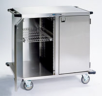 Item # 6930, Stainless Steel Enclosed Case Carts