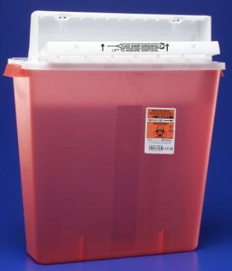 8540SA IV Sharps w/Counter Balanced Lid, Clear, 4 Gallon