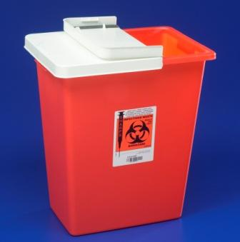 8997 8 Gallon Red Container with Hinged, Sealing Gasket Lid