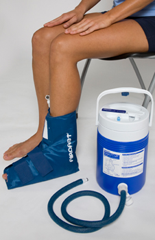 Aircast® Ankle Cryo/Cuff™ and Cooler