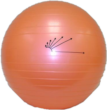 "Heavy-Duty Exercise Fitness Balance Ball, 45 cm (18"") Orange"
