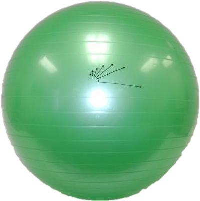 "Heavy-Duty Exercise Fitness Balance Ball, 65 cm (25"") Green"