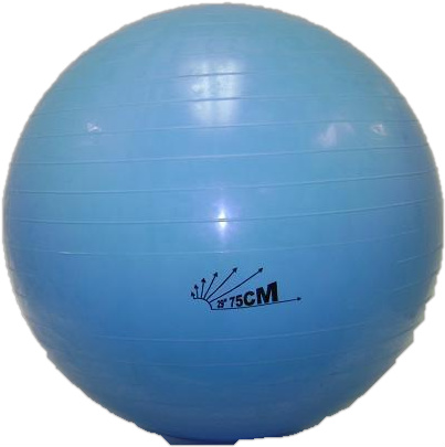 "Heavy-Duty Exercise Fitness Balance Ball, 75 cm (29"") Blue"