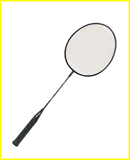ALL STEEL SHAFT & FRAME BADMINTON RACKET
