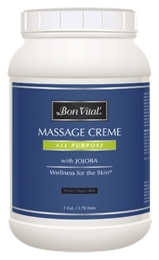 Bon Vital'® ALL PURPOSE MASSAGE CREME, 1/2 Gallon