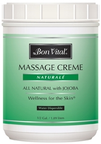 Bon Vital Naturale Massage Creme, 1/2 Gallon