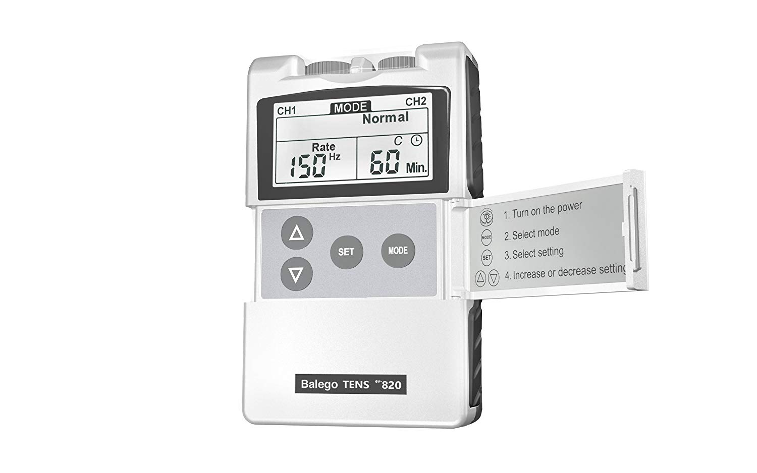 Balego™ TENS Digital unit with 100mA output and 5 modes