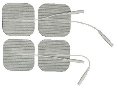 "Reusable TENS Electrodes, 2"" Square with Tyco® Gel, 4/pk"