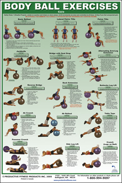Body Ball Poster Singles (Core & Upper/Lower Body)