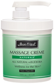 Bon Vital Naturale Massage Creme, 14 oz Jar with Pump