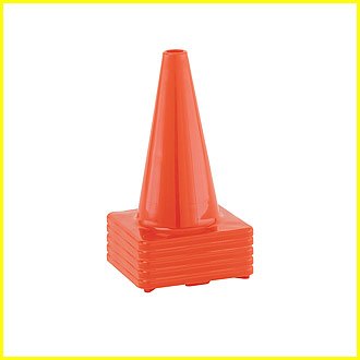 Hi (High) Visibility Flexible Vinyl 12 inch Cone, Orange