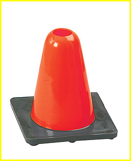 Hi Visibility Flexible Vinyl 6 inch Cone, Heavyweight Base