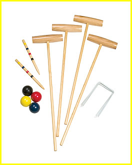 Classic 4 Player Croquet Set