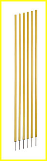 COACHING STICKS, YELLOW