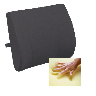 Memory Foam Lumbar Cushion, Black