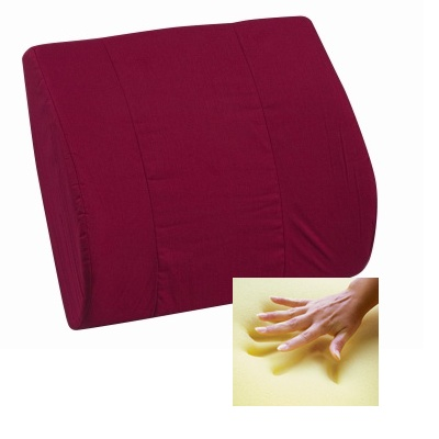 Memory Foam Lumbar Cushion, Burgundy