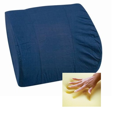 Memory Foam Lumbar Cushion, Navy