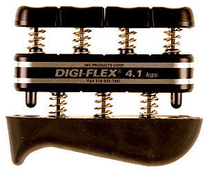 Cando® Digi-Flex Hand/Finger Exerciser, 9 Pound, Black