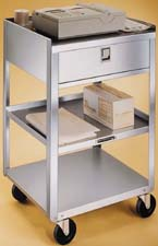 Item # 356, Stainless Steel Equipment Cart Stand - One Drawer