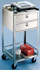 Item # 358, Stainless Steel Equipment Cart Stand - Two Drawers