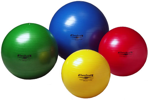 Thera-Band® Exercise Ball: Standard, 65 cm 25.6 in, Green