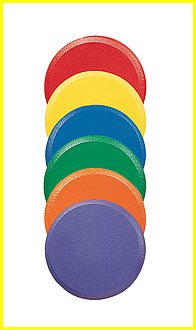 Rounded Edge Foam Disc, Set of Six