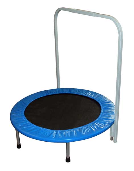 Mini Trampoline: Personal Rebounder with Assist Handle