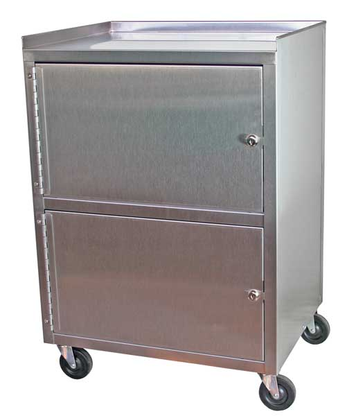 KC321 Dual Stainless Steel Cabinet Cart w/2 lockable